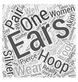 silver hoop earrings Word Cloud Concept vector image vector image