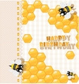So sweet Birthday card vector image vector image
