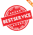 Stamp sticker best service collection - - E vector image vector image