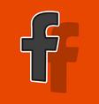 sticker unusual look facebook logotype social vector image vector image