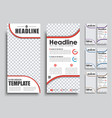 templates banners with place for photo in 4 color vector image