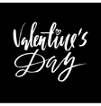 Valentines Day Vintage Card With Lettering vector image vector image