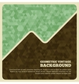 vintage background with triangle vector image vector image