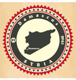 Vintage label-sticker cards of Syria vector image vector image