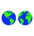 the image of the planet earth vector image