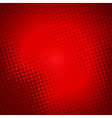 creative halftone in red background vector image