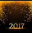 2017 new year celebration background in golden vector image vector image