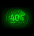 404 error not found page in style scan radar vector image vector image