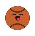 basketball ball happy character cartoon icon image vector image vector image