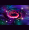 black hole spiral galaxy space star field vector image