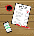 business plan top view vector image vector image
