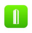cactus plant icon digital green vector image vector image
