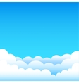 cartoon blue sky vector image