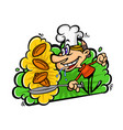 cartoon funny cook in a flat style image isolated vector image vector image