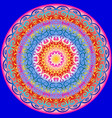 circular pattern in bright colors vector image