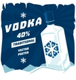Cold or frozen glassware bottle of vodka vector image vector image