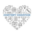 content creation minimal outline heart vector image