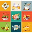Cooking Restaurant and Vegetarian food vector image