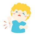 crying boy with wounds from accident vector image vector image