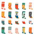 cute socks colorful funny cotton socks warm vector image vector image