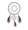 Dreamcatcher with feathers Native American Indian vector image vector image