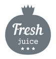 eco fresh juice logo simple style vector image