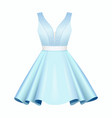 elegant white blue women cocktail dress vector image vector image