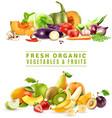 Fresh Vegetables And Fruits Design Concept vector image