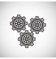 gear design cog icon white background vector image