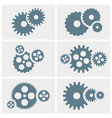 gear icons set machine gear collection in flat vector image