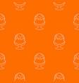 glass ice cream pattern orange vector image vector image