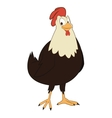 hen cartoon icon vector image