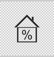 house with discount tag house percentage price vector image