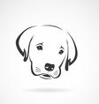image of an labrador puppy face vector image vector image