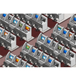Isometric Call Center Office vector image vector image