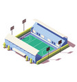 isometric low poly field hockey stadium vector image vector image