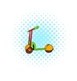 Kick scooter icon comics style vector image vector image