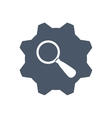 lupe gear search magnifying glass icon vector image