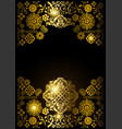 luxury gold ornamental design background vector image vector image