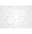 Molecular grey structure abstract tech background vector image vector image