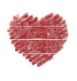 painted valentine heart vector image