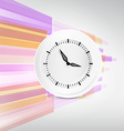 Paper Clock on Modern Abstract Background vector image vector image