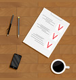 plan business work vector image vector image