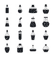 potion magic bottle icons set simple style vector image vector image