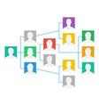 project team organization chart colleagues vector image