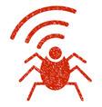 radio spy bug grunge icon vector image vector image