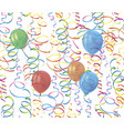 realistic colorful balloons with reflects and vector image vector image