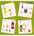 Recipe Of Cooking Jam Set vector image vector image