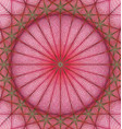 Red geometric kaleidoscope fractal background vector image vector image