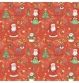 Red holiday seamless pattern vector image vector image